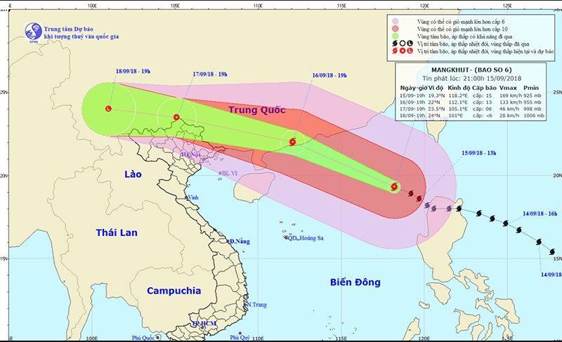 Công điện Khẩn về việc triển khai các biện pháp ứng phó siêu bão MANGKHUT