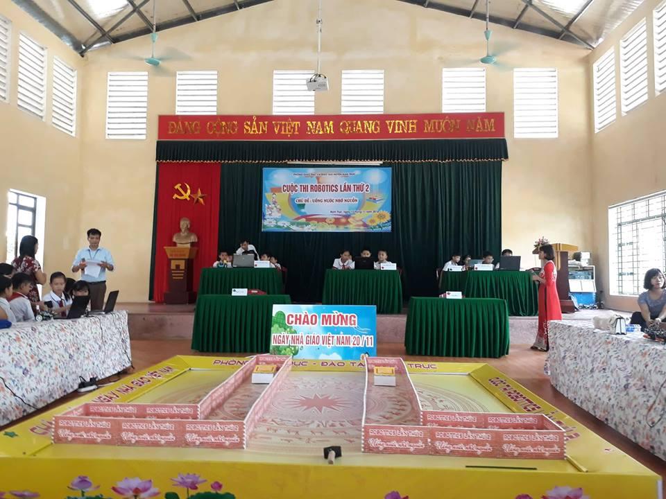 Cuộc thi robotics huyện Nam Trực chào mừng ngày Nhà Giáo Việt Nam 20/11