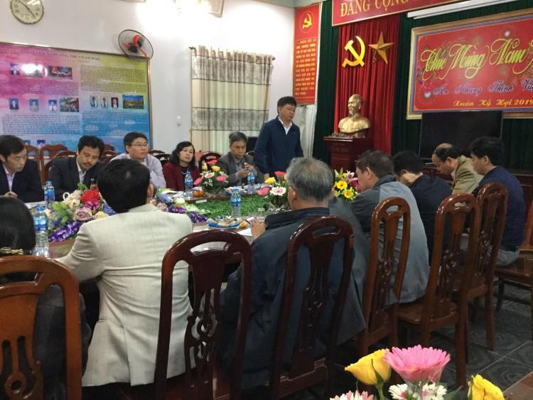 Phòng Giáo dục và Đào tạo huyện Nam Trực làm việc với Hội đồng giáo dục Thị trấn Nam Giang về tăng cường cơ sở vật chất cho các nhà trường