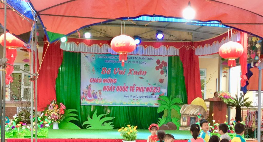 Trường Mầm non Nam Long tổ chức Ngày hội bé vui chào mừng ngày Quốc tế Phụ nữ 08/3