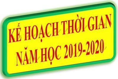 Bộ GD&ĐT điều chỉnh khung kế hoạch thời gian năm học 2019-2020 lần 2